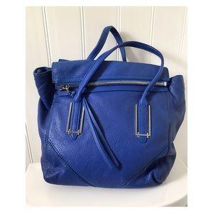 BOTKIER Blue Leather Top Handle Satchel